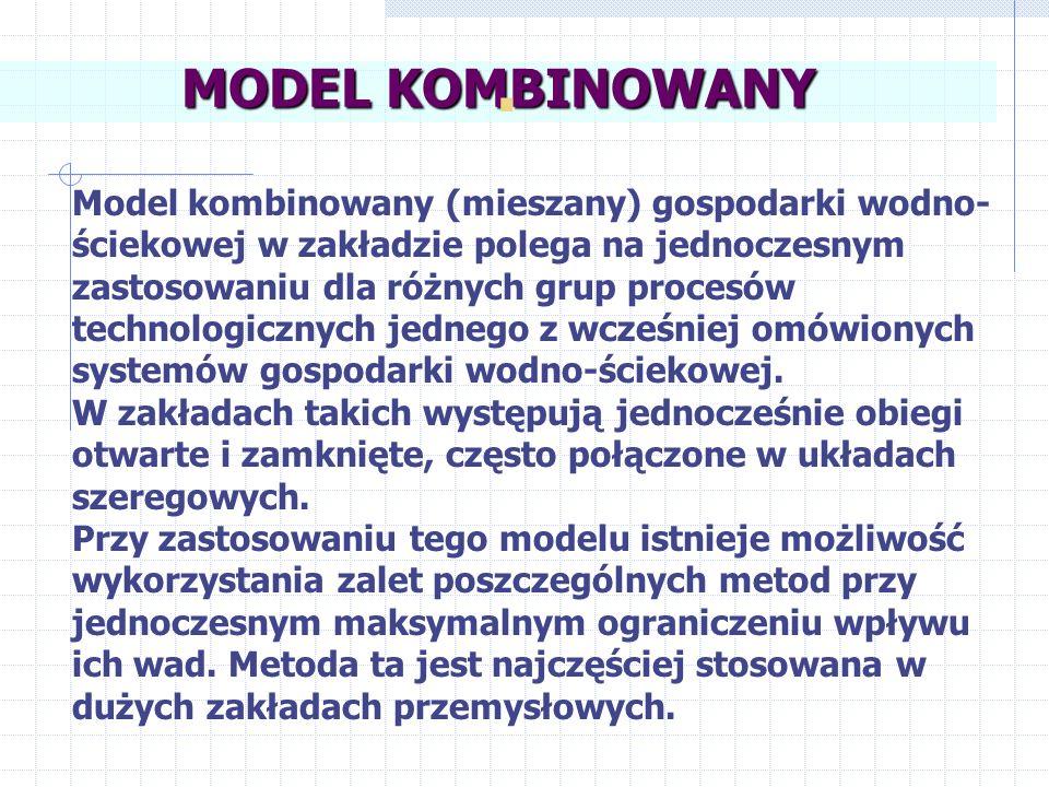 Schemat modelu kombinowanego przepływowo-nieprzepływo-szeregowego