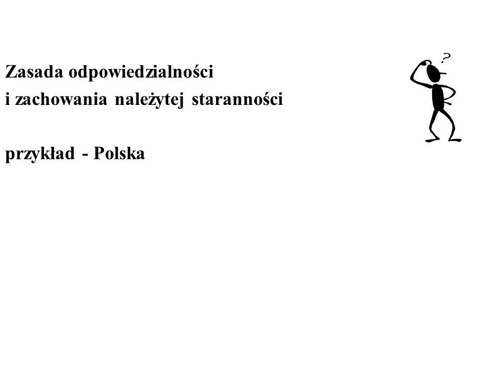 Zasada odpowiedzialności i zachowania należytej staranności przykład - Polska