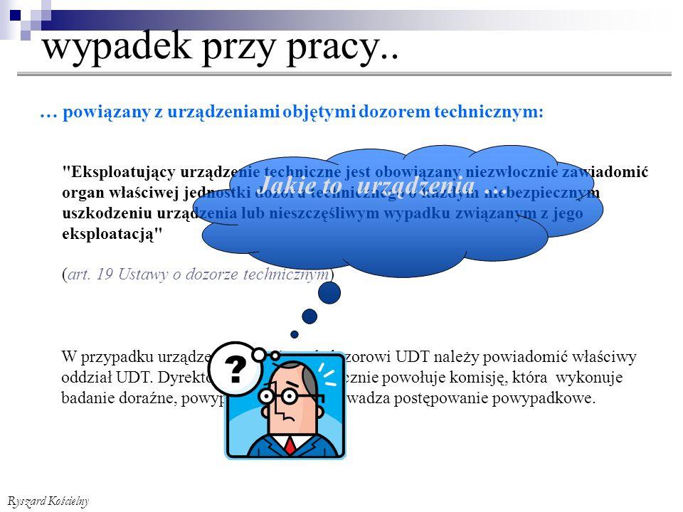 Ryszard Kościelny wypadek przy pracy..