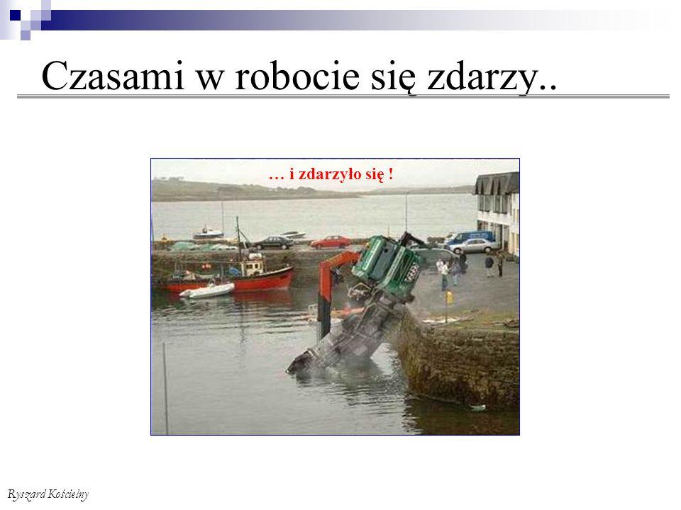 Ryszard Kościelny Komisja powypadkowa Protokół powypadkowy (wzór cd.) dokonał w dniach od ……….