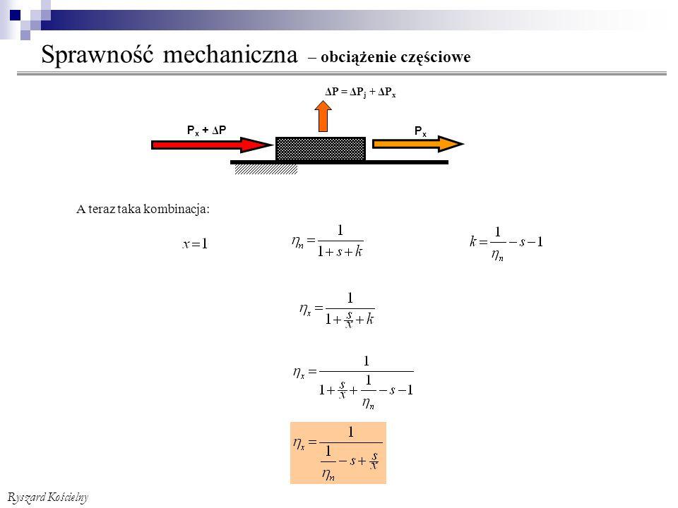Sprawność mechaniczna – obciążenie częściowe + zmiana kierunku przepływu strumienia mocy Ryszard Kościelny Pamiętamy.