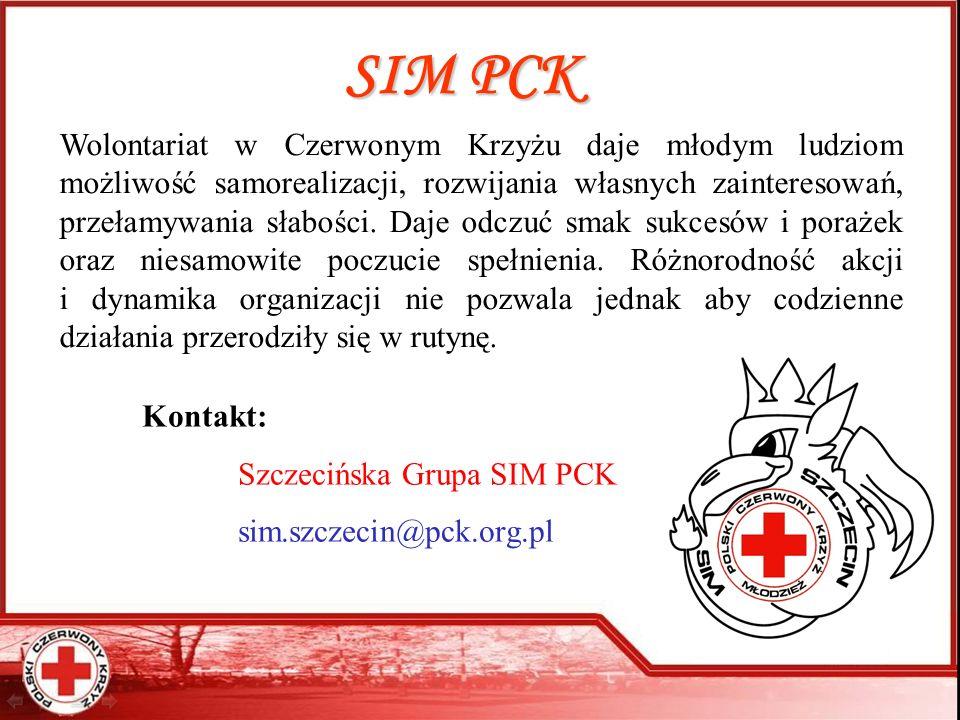 SIM PCK Wolontariat w Czerwonym Krzyżu daje młodym ludziom możliwość samorealizacji, rozwijania własnych zainteresowań, przełamywania słabości. Daje o