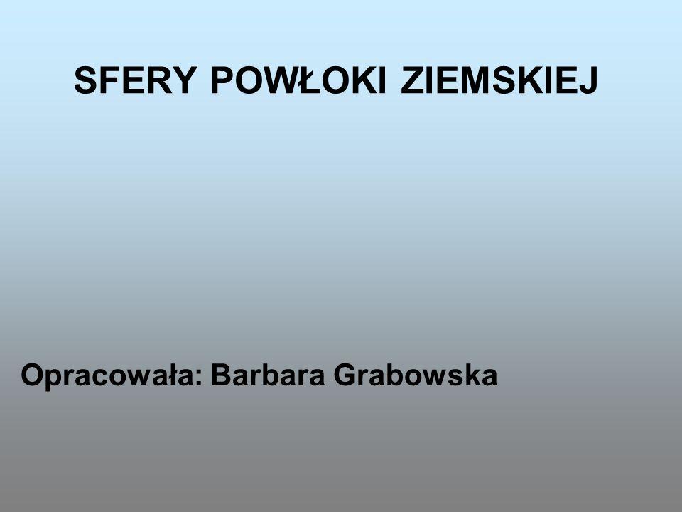SFERY POWŁOKI ZIEMSKIEJ Opracowała: Barbara Grabowska