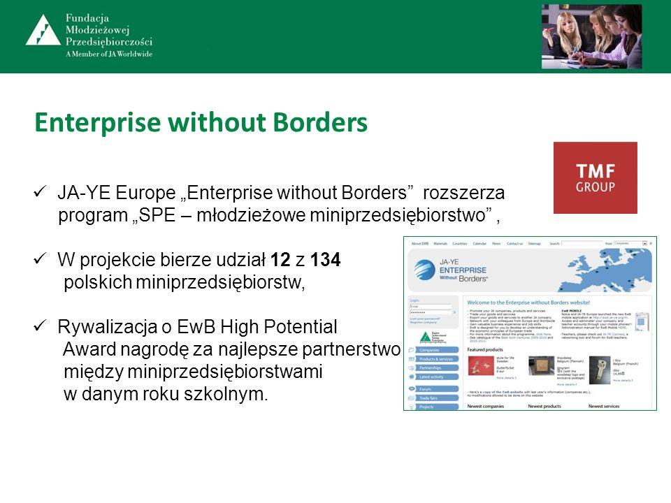 Enterprise without Borders JA-YE Europe Enterprise without Borders rozszerza program SPE – młodzieżowe miniprzedsiębiorstwo, W projekcie bierze udział