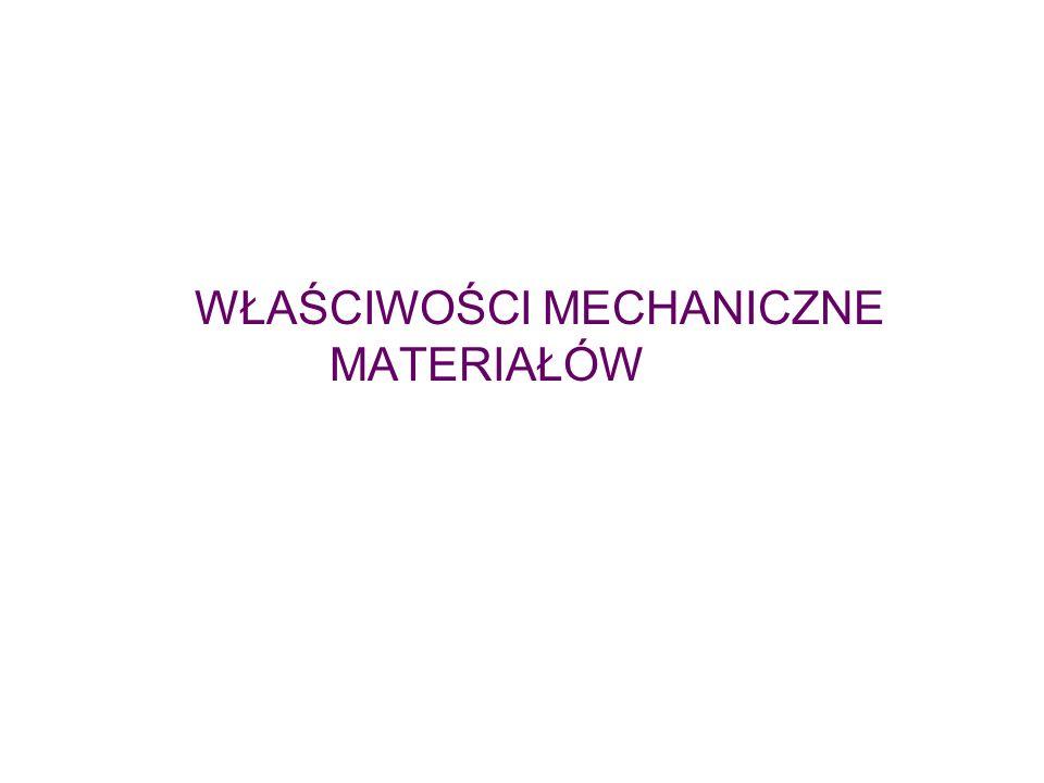 Właściwości materiałów Fizyczne Chemiczne Mechaniczne Właściwości mechaniczne Określają zdolność materiału do przenoszenia obciążeń Są przedmiotem znormalizowanych prób Normy: branżowe, państwowe, międzynarodowe, towarzystw lotniczych, okrętowych itp.
