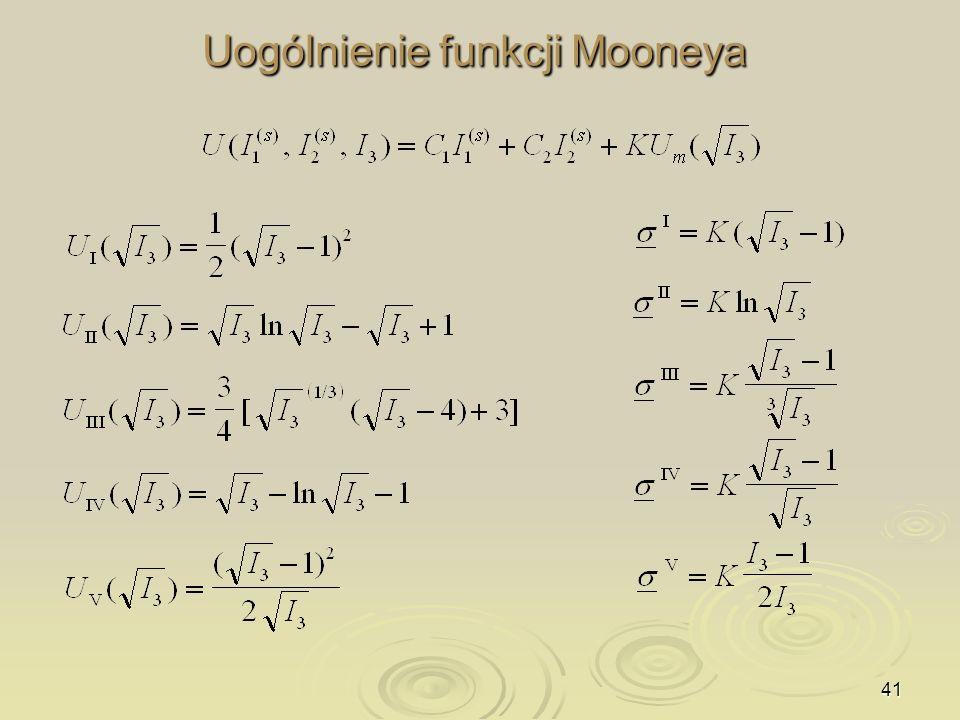 41 Uogólnienie funkcji Mooneya