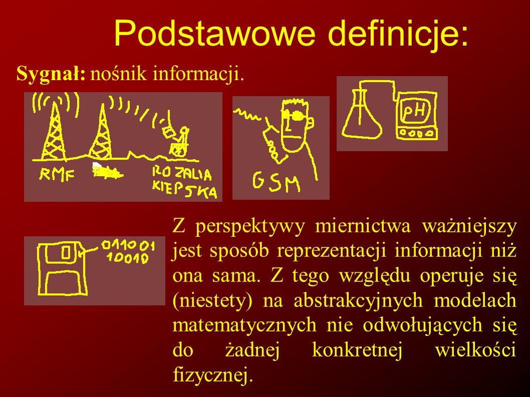 Sygnał (banalny przykład) Z punktu widzenia babki najbardziej (jedynie) istotne są treści niesione w przekazie radiowym.