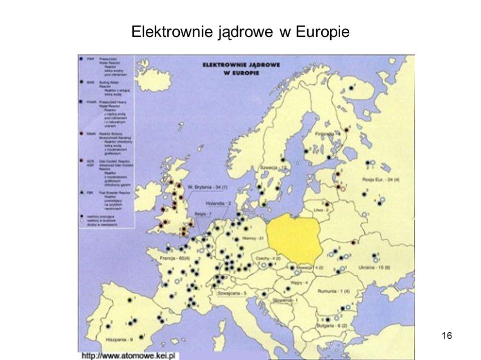 16 Elektrownie jądrowe w Europie
