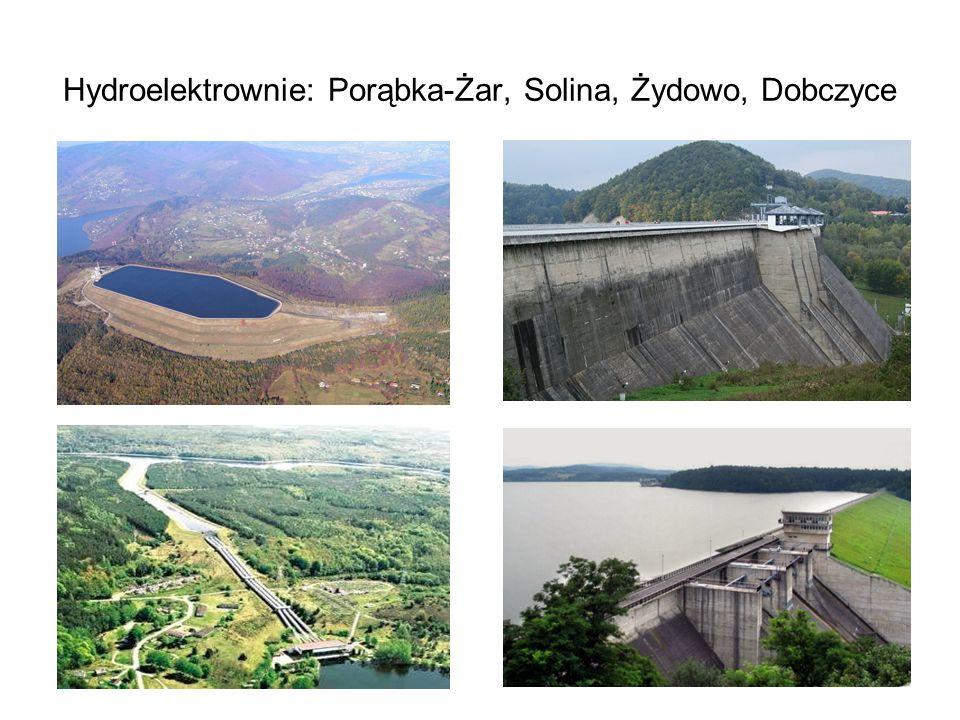 37 Hydroelektrownie: Porąbka-Żar, Solina, Żydowo, Dobczyce