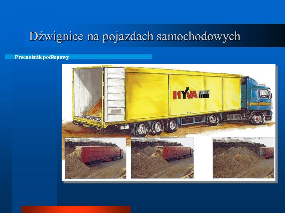 Dźwignice na pojazdach samochodowych Podest samozaładowczy na samochodach ciężarowych