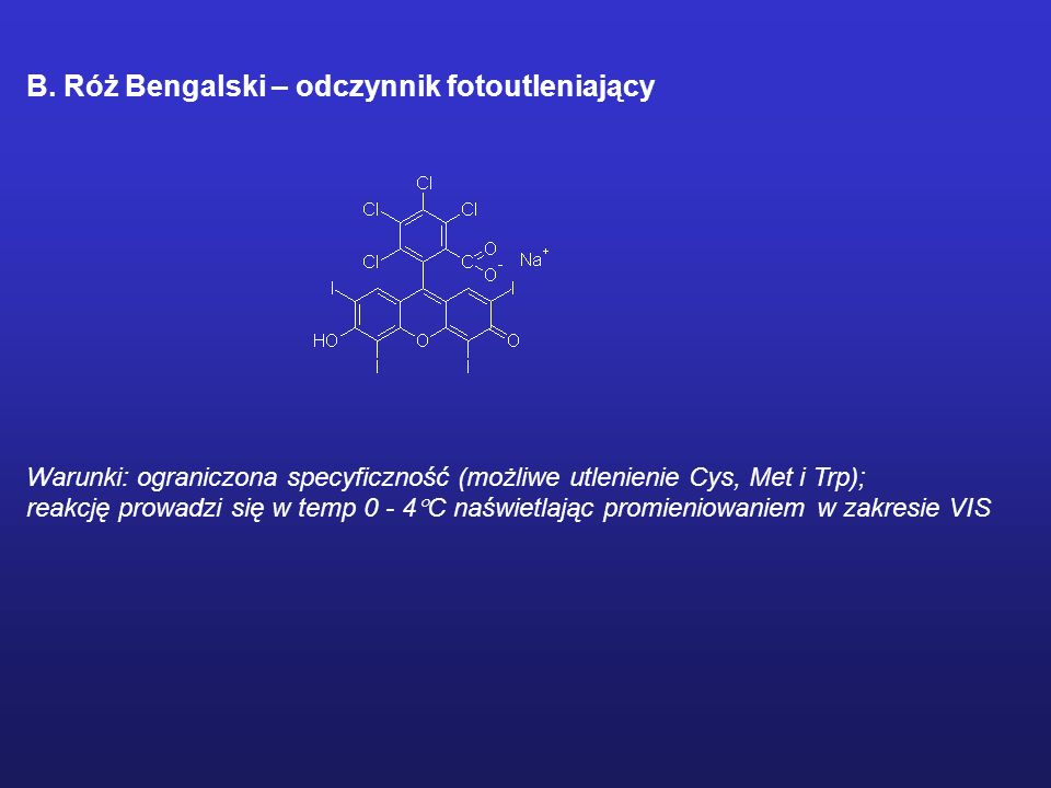 MODYFIKACJE CHEMICZNE ENZYMU Odczynniki ukierunkowane na reszty histydylowe A. Dietylopirowęglan Warunki: odczynnik specyficzny dla His w zakresie pH4