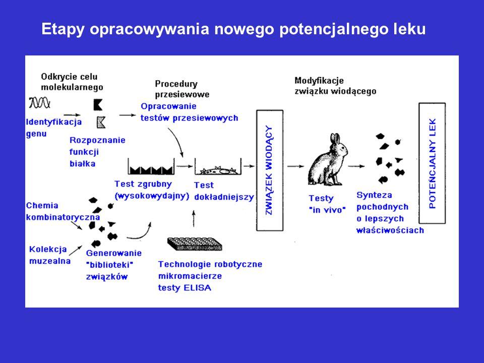 Etapy opracowywania nowego potencjalnego leku