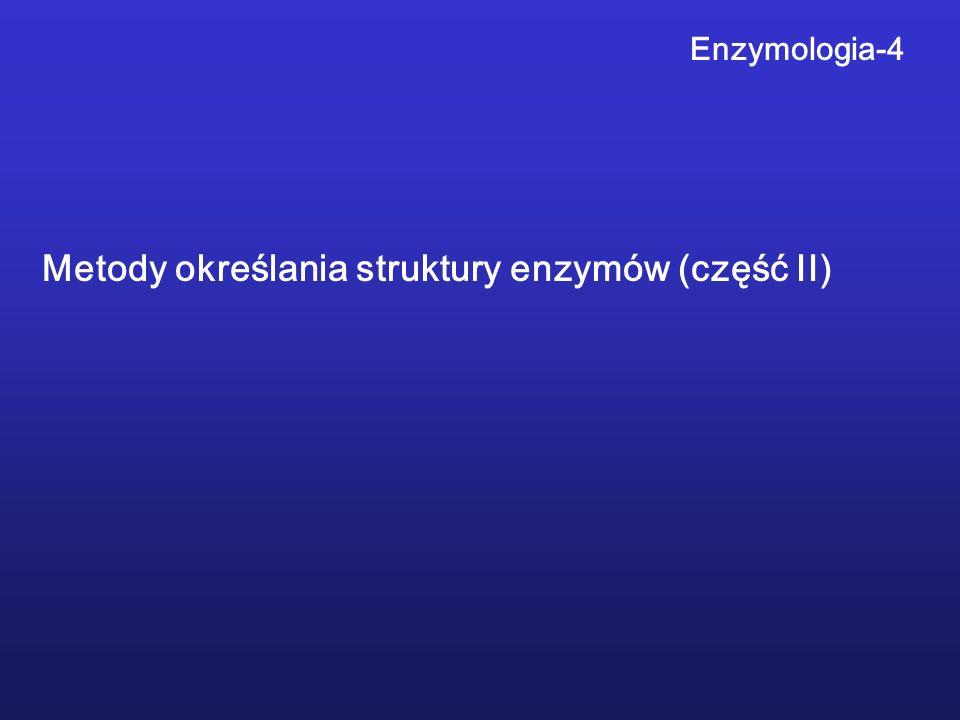Enzymologia-4 Metody określania struktury enzymów (część II)
