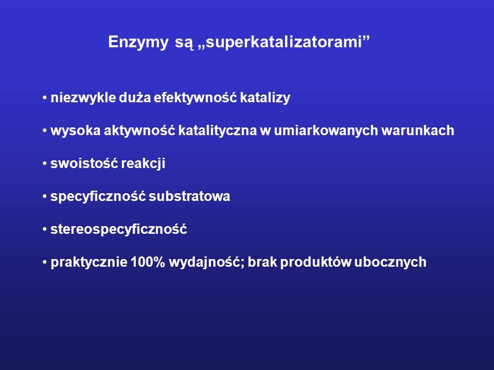 Aktywność enzymu – ilość enzymu katalizująca przekształcenie 1 mola substratu w produkt w jednostce czasu.