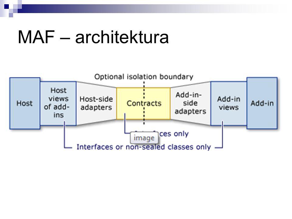MAF – kalkulator WPF Plugin: Visual Studio Pipeline Builder http://clraddins.codeplex.com/releases/view/9454