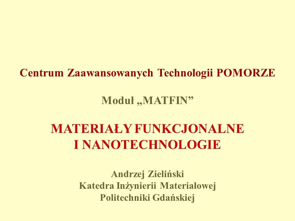 ZESPOŁY MODUŁU Politechnika Gdańska, Wydział Chemii, Katedra Chemii Organicznej kierownik zespołu prof.