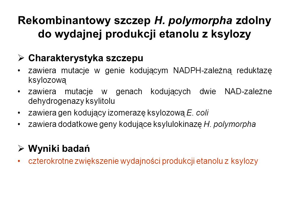 Rekombinantowy szczep H.