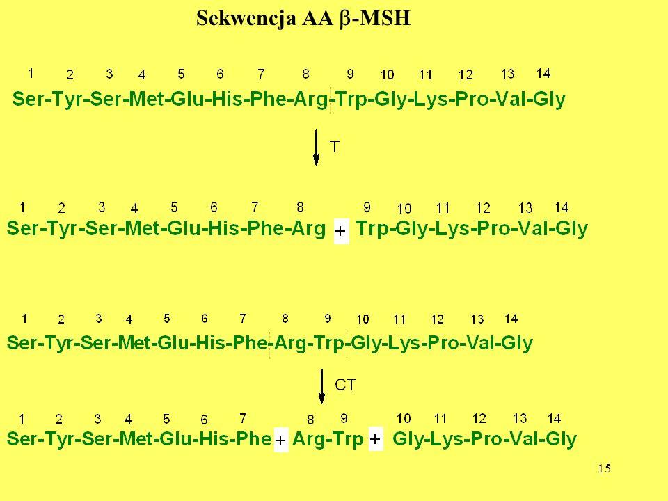 15 Sekwencja AA -MSH