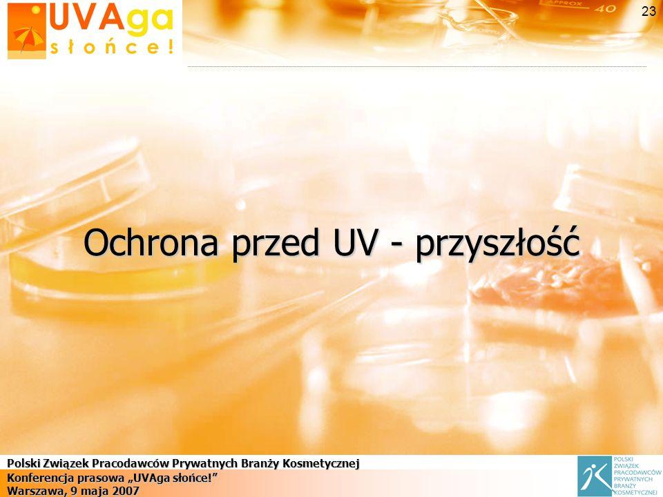 Polski Związek Pracodawców Prywatnych Branży Kosmetycznej Konferencja prasowa UVAga słońce.
