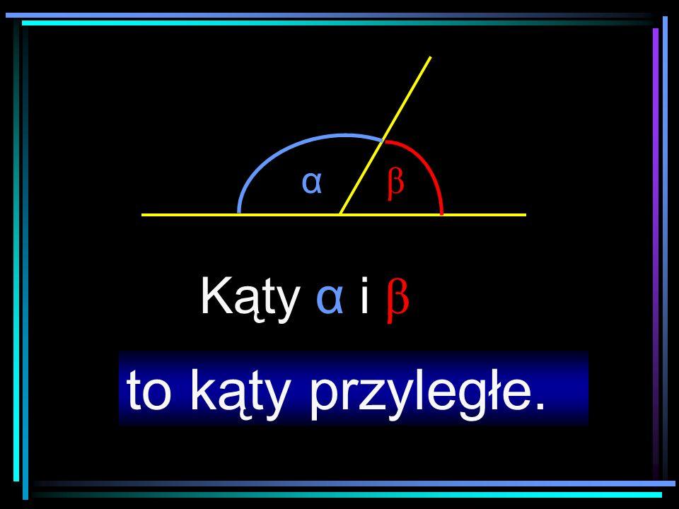 α β Kąty przyległe tworzą razem kąt półpełny.Dwa pozostałe ramiona tworzą prostą.