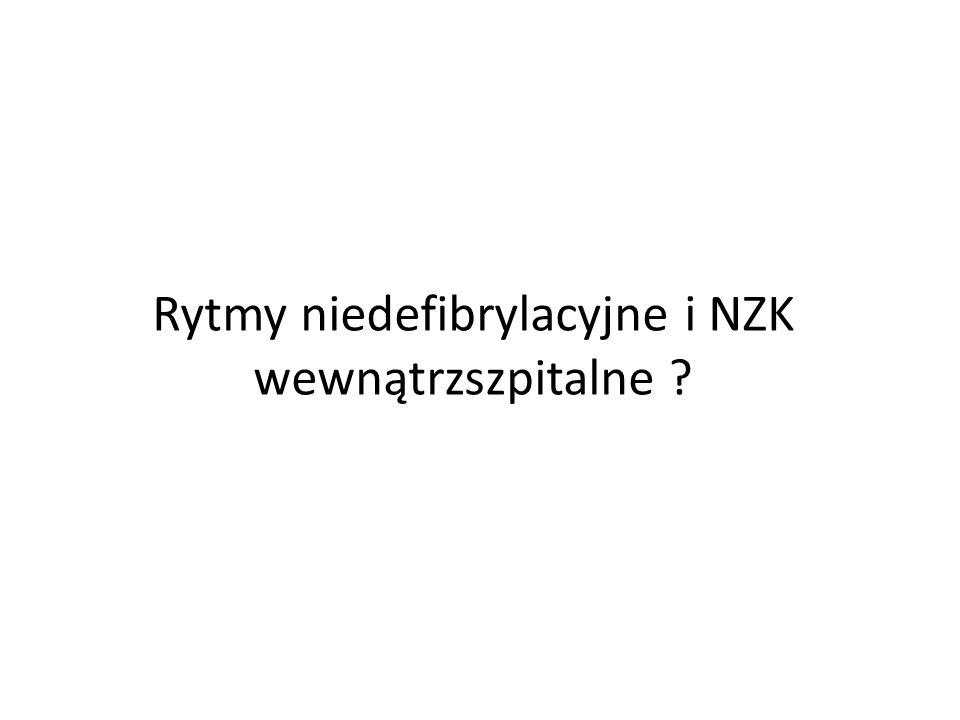 Rytmy niedefibrylacyjne i NZK wewnątrzszpitalne ?