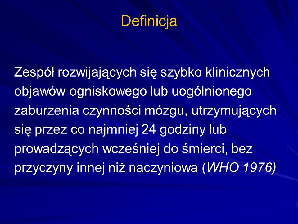 Postępowanie przedszpitalne Ocena / stabilizacja stanu chorego: –ABC –ocena objawów udaru (twarz, kończyny, mowa wg np.