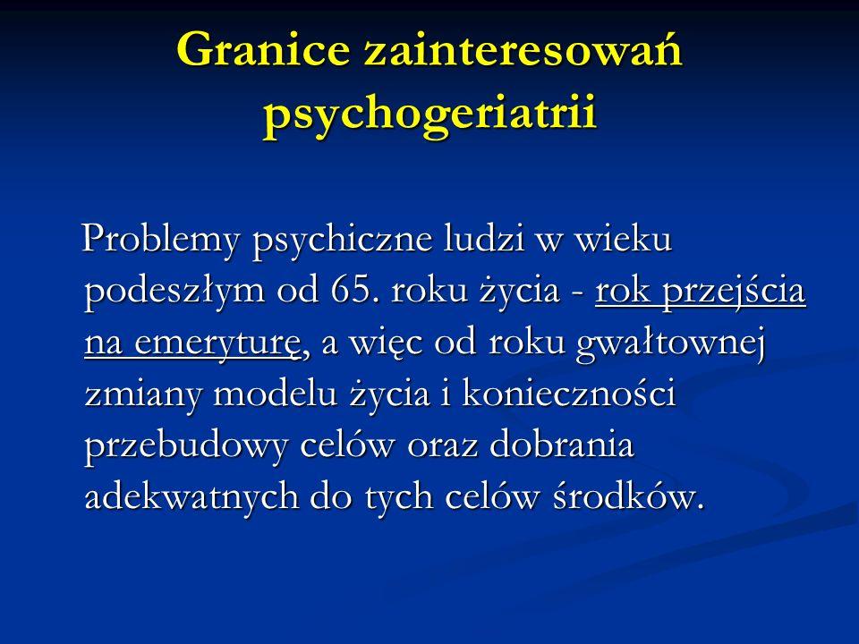 Cechy kliniczne depresji w wieku podeszłym Przewlekłość przebiegu Skargi na zaburzenia poznawcze Obecność chorób somatycznych / OUN Specyfika obrazu klinicznego