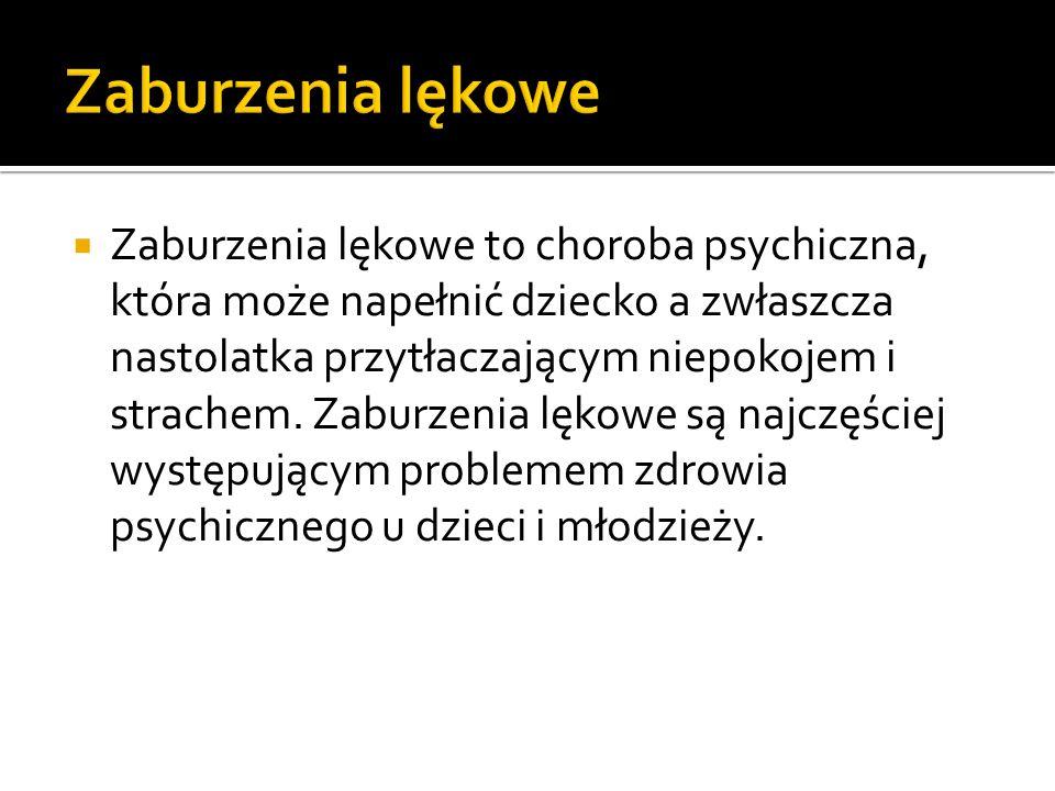 Zaburzenia lękowe to choroba psychiczna, która może napełnić dziecko a zwłaszcza nastolatka przytłaczającym niepokojem i strachem. Zaburzenia lękowe s