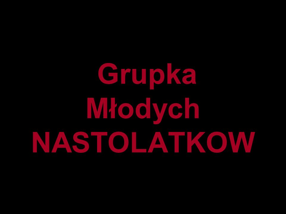 Grupka Młodych NASTOLATKOW