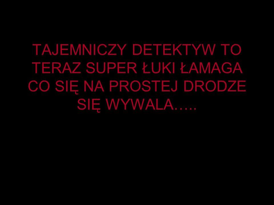 TAJEMNICZY DETEKTYW TO TERAZ SUPER ŁUKI ŁAMAGA CO SIĘ NA PROSTEJ DRODZE SIĘ WYWALA…..