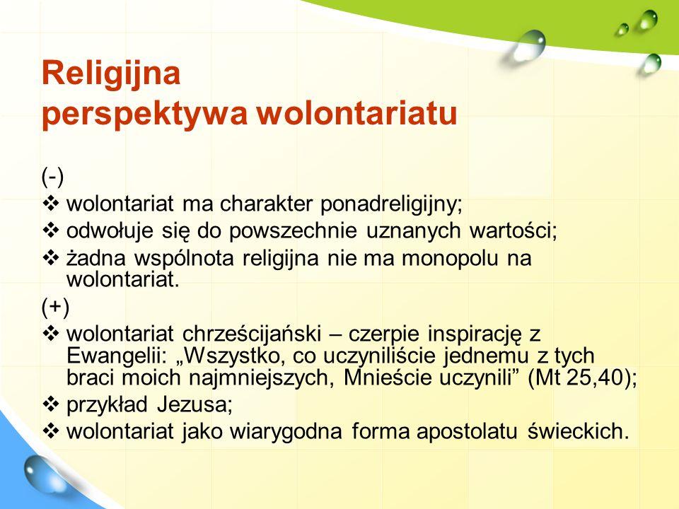 Wolontariat w Polsce – blaski i cienie (próba panoramy) Ustawa z dnia 24 kwietnia 2003 r.