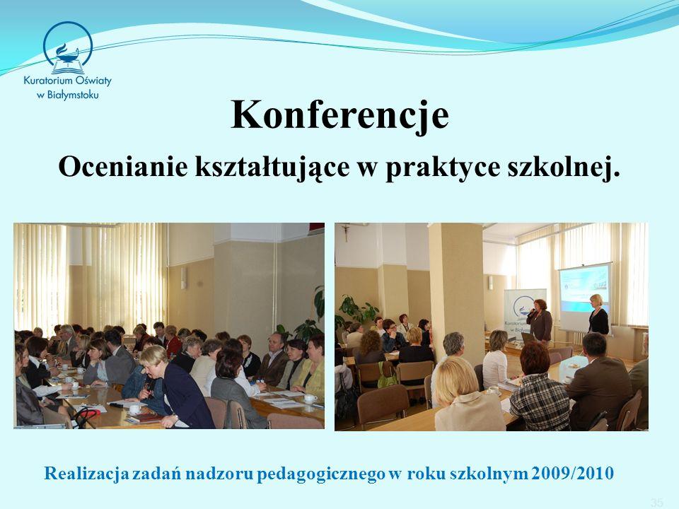 Konferencje Ocenianie kształtujące w praktyce szkolnej.