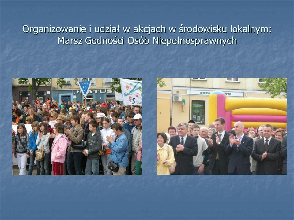 Organizowanie i udział w akcjach w środowisku lokalnym: Marsz Godności Osób Niepełnosprawnych
