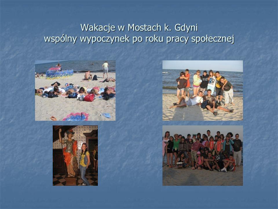 Wakacje w Mostach k. Gdyni wspólny wypoczynek po roku pracy społecznej