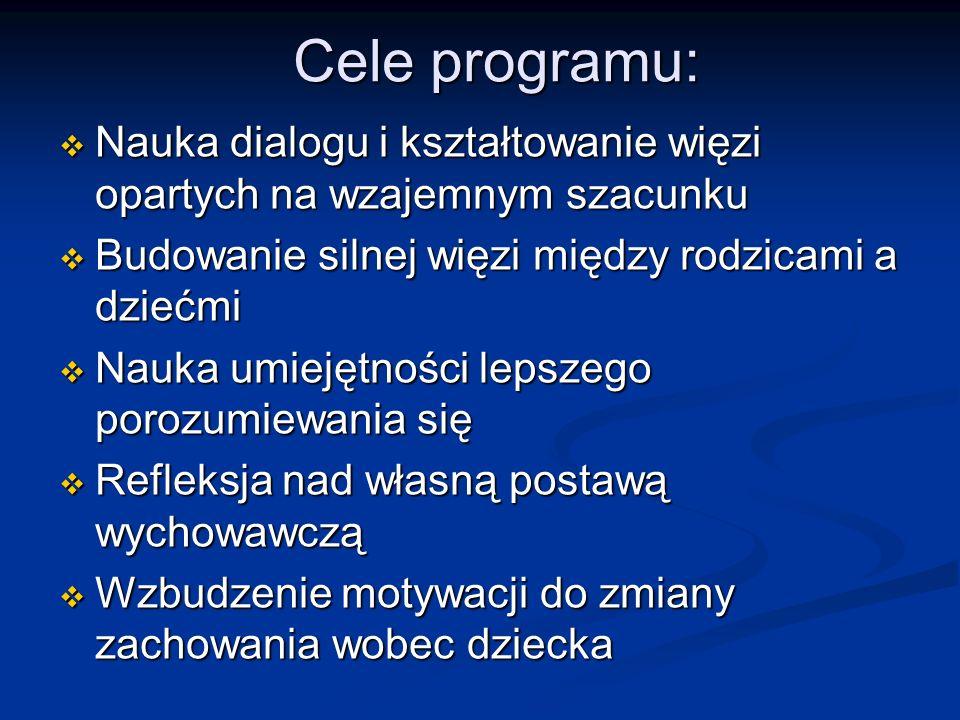 Cele programu: Nauka dialogu i kształtowanie więzi opartych na wzajemnym szacunku Nauka dialogu i kształtowanie więzi opartych na wzajemnym szacunku B