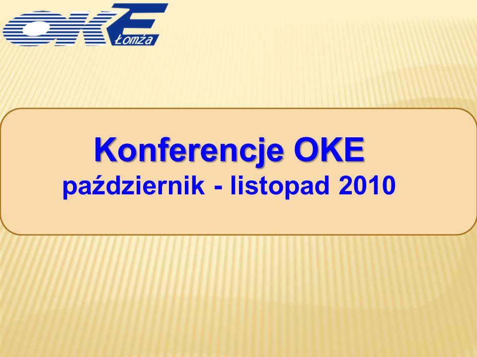 Konferencje OKE październik - listopad 2010