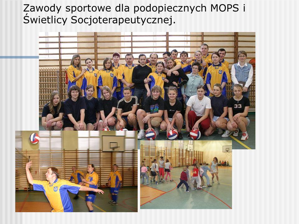 Zawody sportowe dla podopiecznych MOPS i Świetlicy Socjoterapeutycznej.