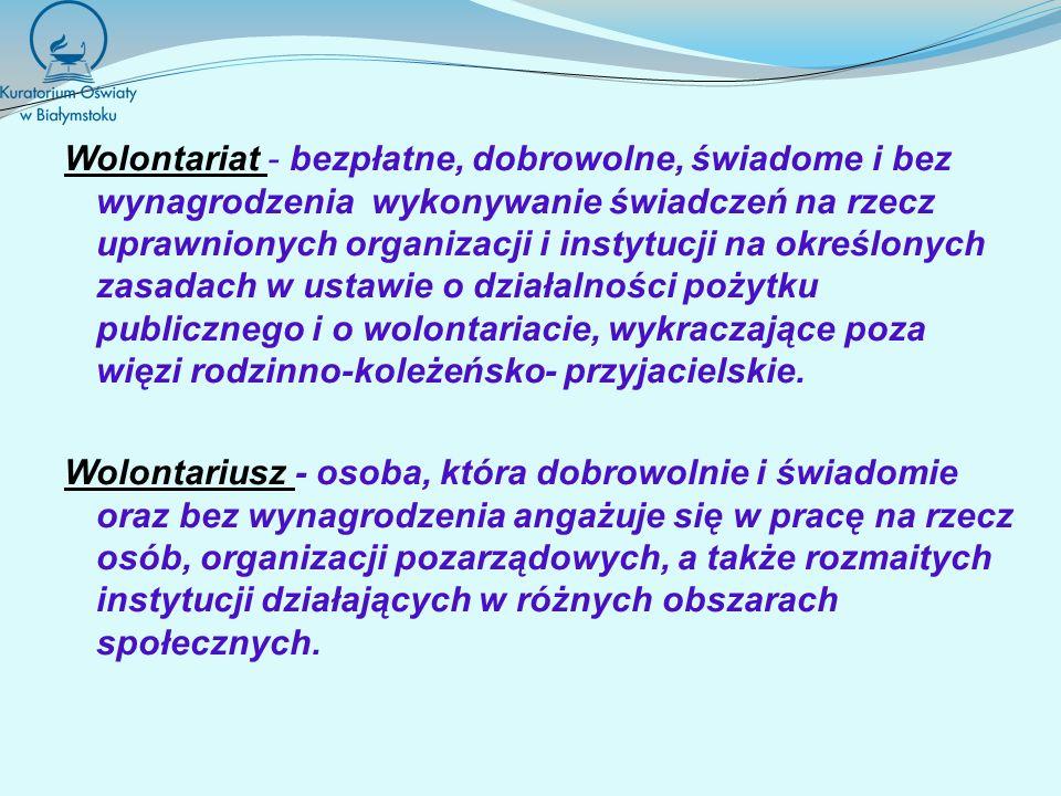 Ustawa z dnia 24 kwietnia 2003r.o działalności pożytku publicznego i wolontariacie (Dz.U.