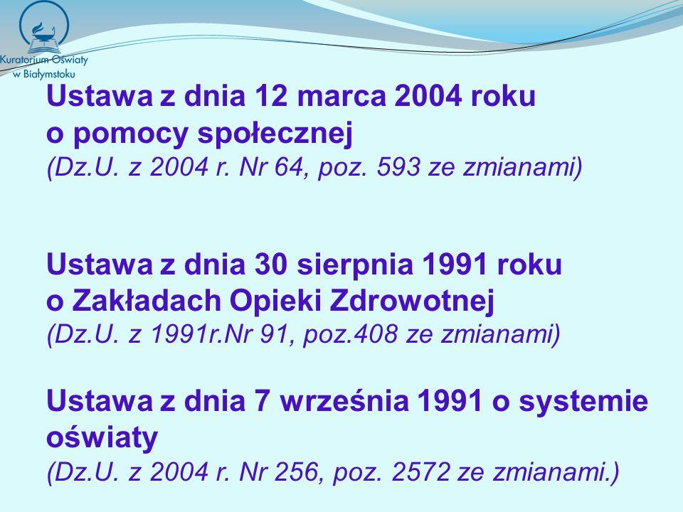 Rozporządzenie Ministra Edukacji Narodowej z dnia 28 maja 2010r.