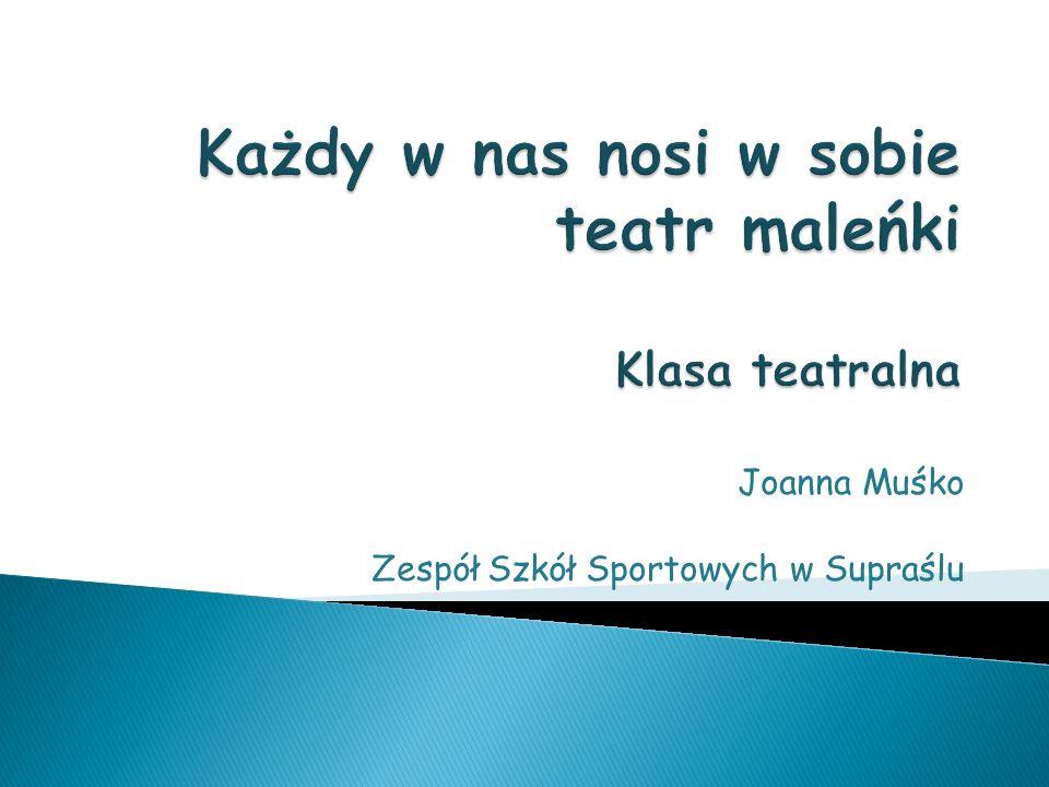 Joanna Muśko Zespół Szkół Sportowych w Supraślu