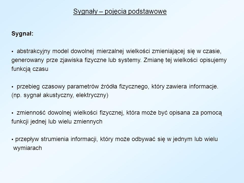 Schemat systemu przetwarzania sygnałów