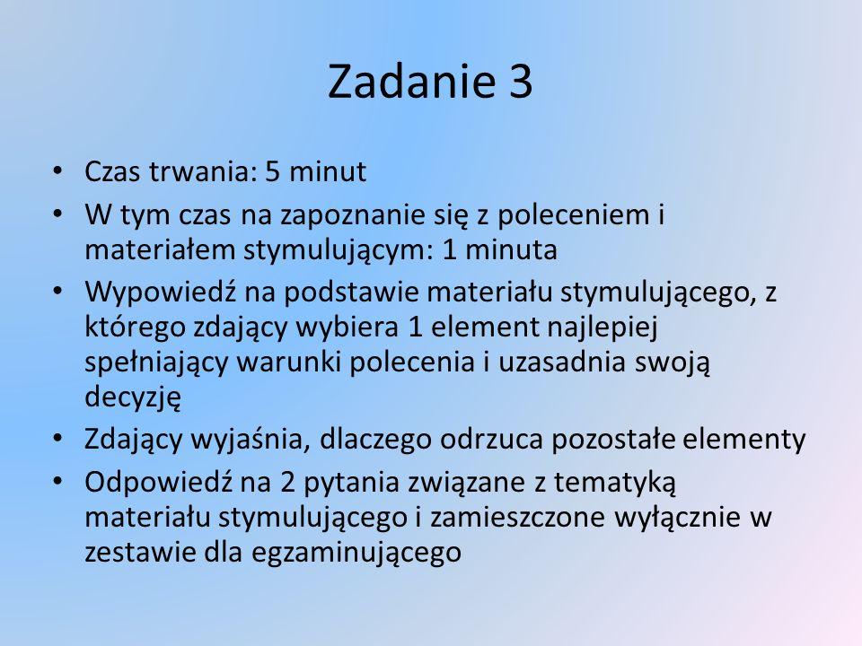 Realizacja liczby zadań liczba zadań do kt ó rych przystąpił zdający zakres struktur leksykalno- gramatycznych poprawność struktur leksykalno - gramatycznych wymowa płynność wypowiedzi 2 zadaniamax.