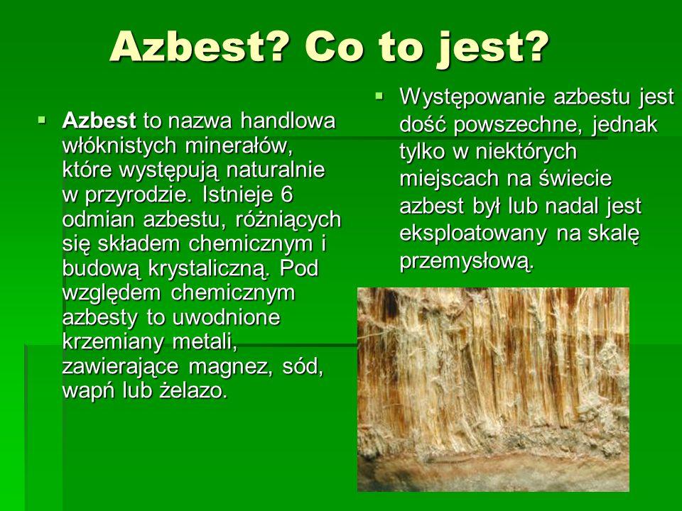Bezpieczne usuwanie azbestu Zagrożeniem może być niewłaściwe usuwanie azbestu, kiedy w czasie obróbki mechanicznej (m.in.