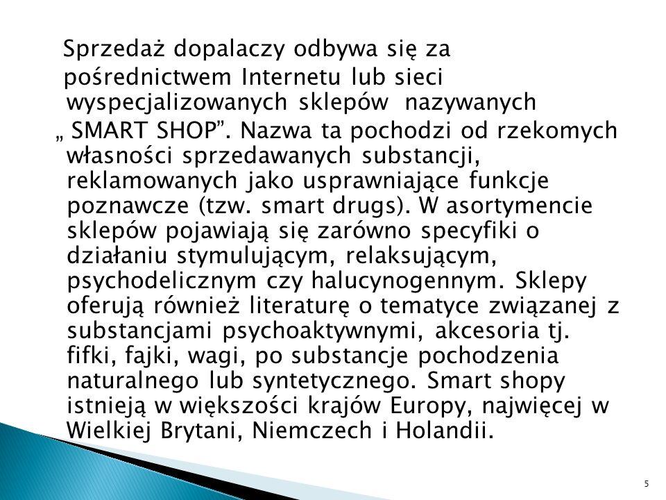 Nowelizacja ustawy o przeciwdziałaniu narkomani z 20 marca 2009 zwiększyła listę zakazanych substancji o kilkanaście, które na podstawie danych z innych krajów oraz wyrywkowych badań własnych podejrzewano o obecność w produktach sprzedawanych w Polsce.