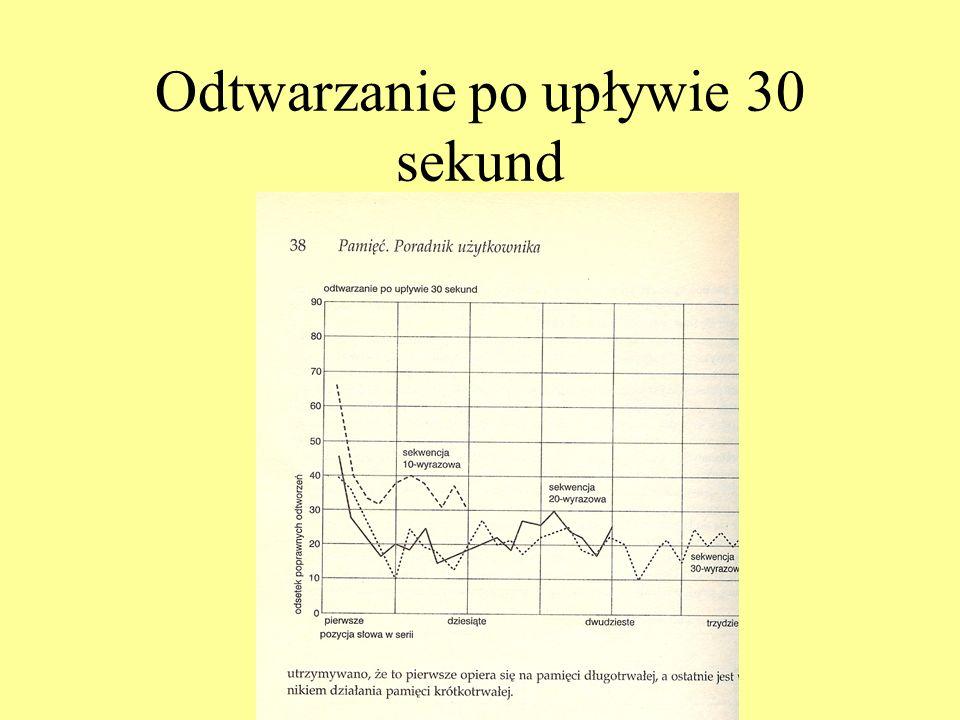 Przechowywanie w krótkich okresach czasu: paradygmat Browna-Petersonów