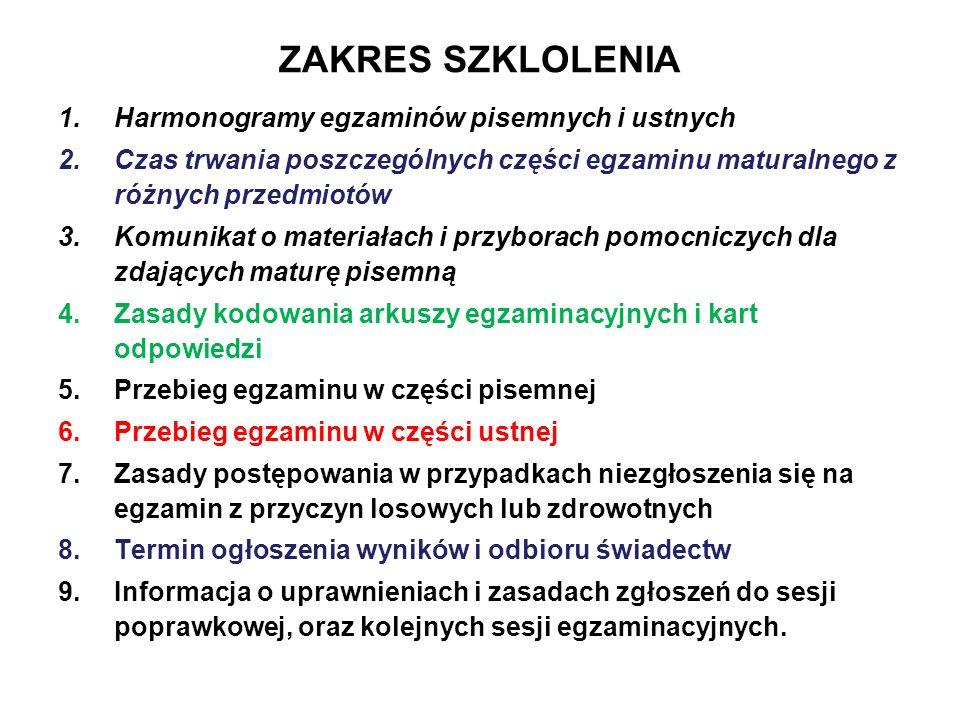 Część ustna egzaminu z języka polskiego Jeśli w czasie prezentacji korzystasz ze sprzętu komputerowego, to przyjdź i sprawdź jego działanie dnia 2013 o godz.