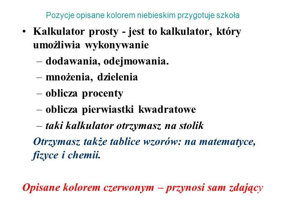 Część ustna egzaminu z języka polskiego Wyniki tej części egzaminu przewodniczący PZE ogłasza tego samego dnia: – o godz.