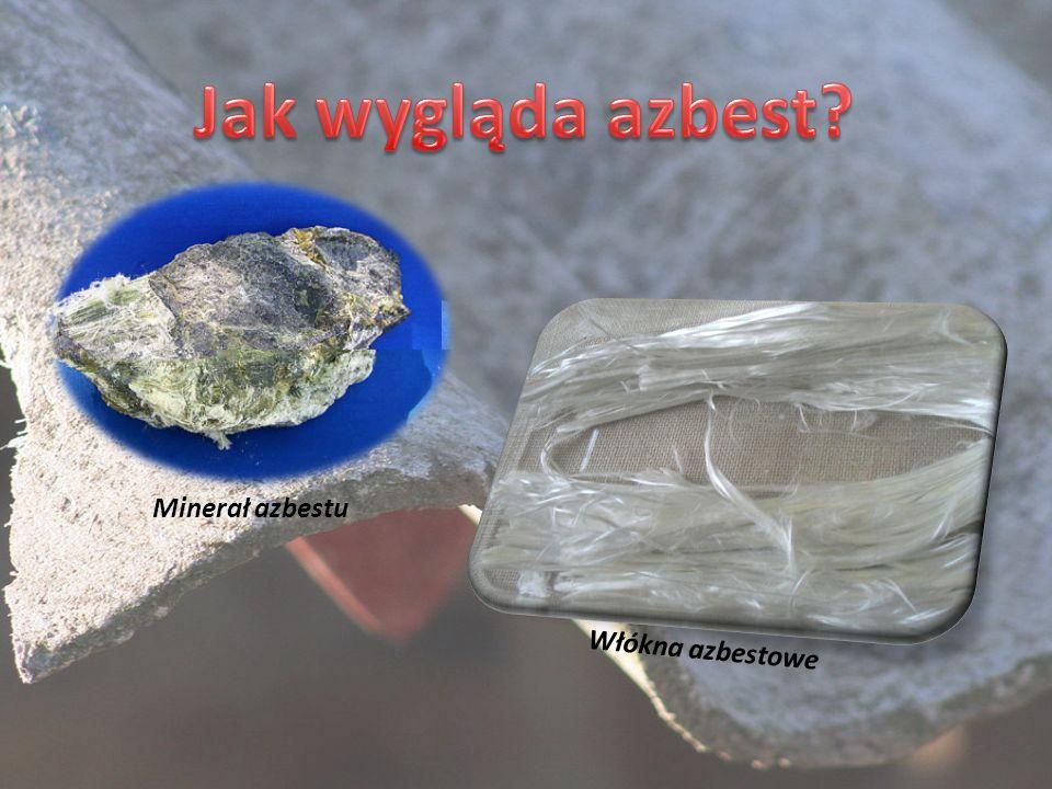 Minerał azbestu Włókna azbestowe