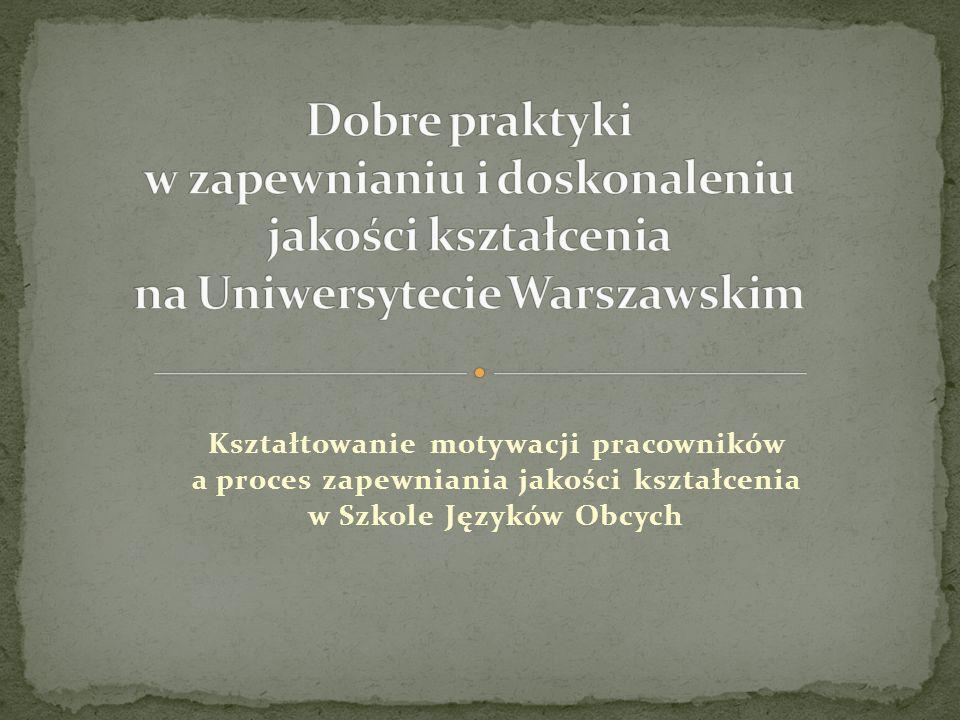 I. Praca dydaktyczna II. Rozwój własny III. Zaangażowanie w pracę na rzecz SzJO i UW