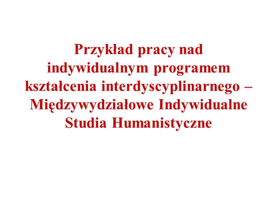 Przykład pracy nad indywidualnym programem kształcenia interdyscyplinarnego – Międzywydziałowe Indywidualne Studia Humanistyczne